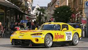 Side Front Pose Of Zakspeed Dodge Viper In Yellow